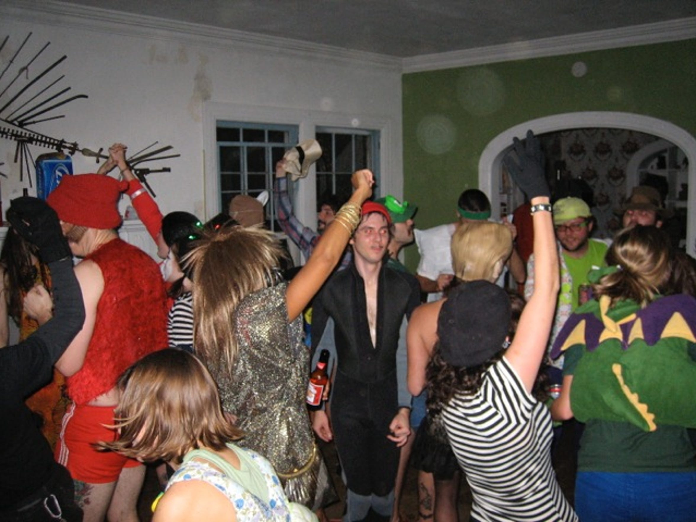 Party-goers flocked to Charles Mansion for epic parties that attracted swarms of college students and residents.