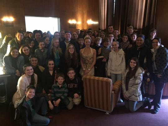 While performing at the Big Apple Music Festival, Seton Catholic Central students made time to tour Radio City Music Hall with a Rockette.