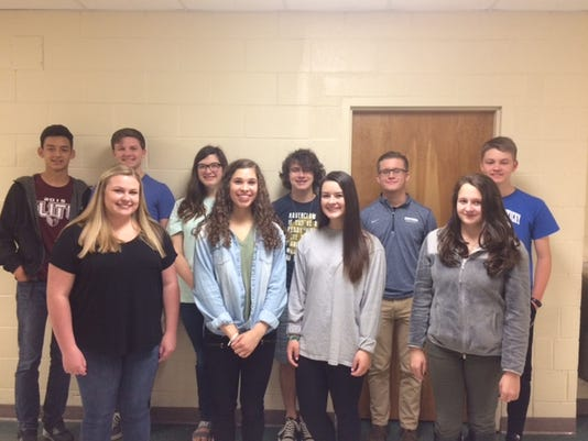 HCHS April students of the month