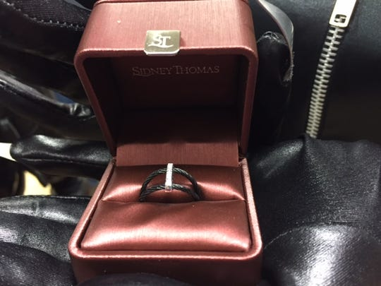 A unique engagement ring for an unusual marriage proposal.