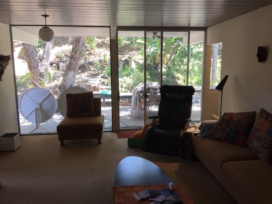 The interior of one of four modernist homes built in