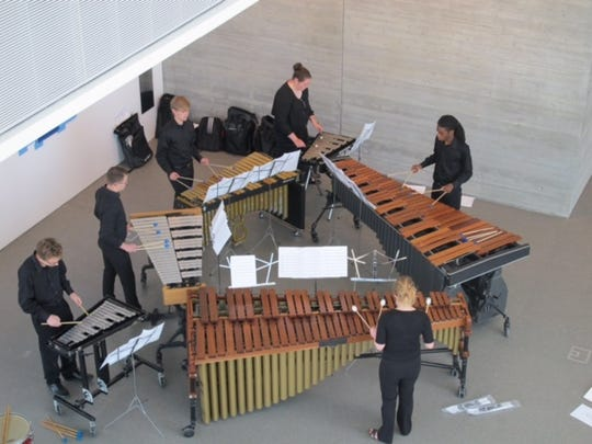 The University of Louisville Percussion Ensemble is part of the May Music Festival.