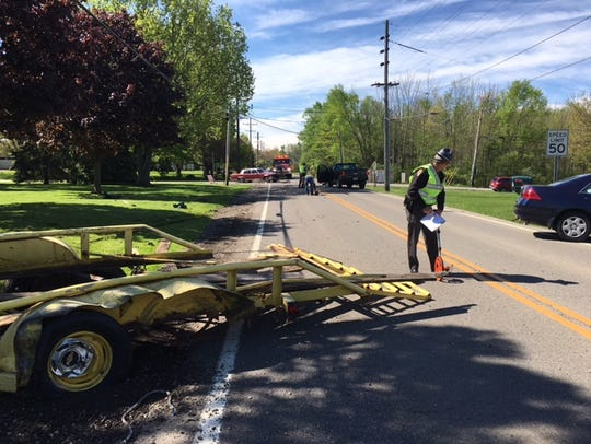A three-vehicle crash at Ohio 545 and Piper Road Tuesday