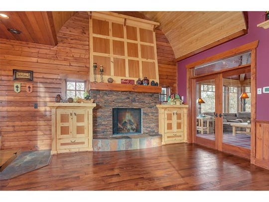 Woodwork features prominently in the design of 17447 Fisher Road.