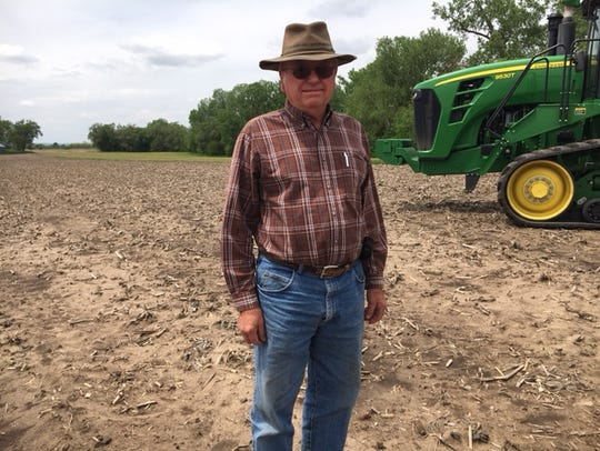 Ivan Woltermath takes time out from spring tilling