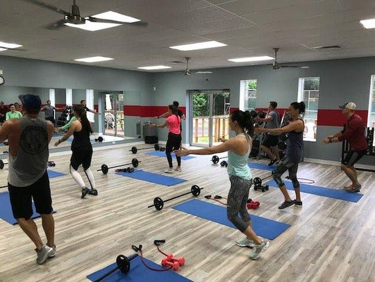 The aerobics room is part of the upgrades at the Pensacola