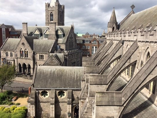 View from the roof of Christ Church Cathedral.