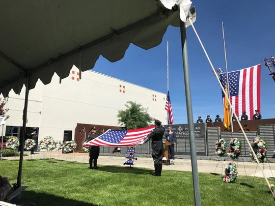 The New Mexico Department of Public Safety's Law Enforcement Memorial ceremony was held Wednesday, May 24, 2017, in Santa Fe. Roughly 300 people were present at the ceremony that honored officers killed in the line of duty, including Hatch police Officer Jose Chavez, Alamogordo police officer Clint E. Corvinus and Valencia County Sheriff's deputy Ryan S. Thomas.