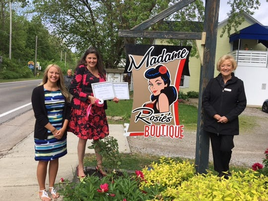 The Marblehead Penisula Chamber of Commerce held a ribbon cutting for Madame Rosie's Boutique.