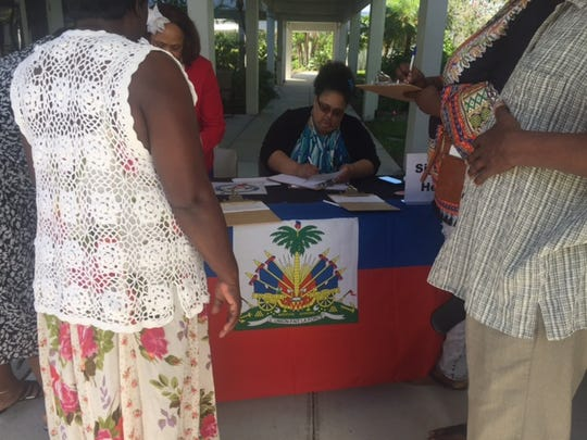 Haitians with TPS turned out to a workshop in early May to see what their options were if their immigration status expires.