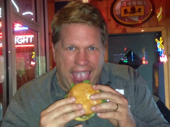 Battle Creek Enquirer's Bill Broderick of  Bill's Bites at Player's Grill in Augusta