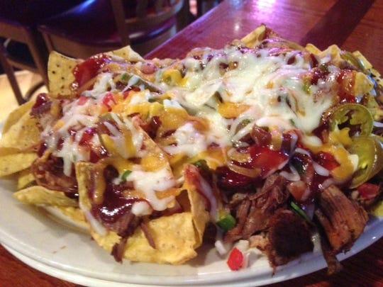 The Player's Grill in Augusta features BBQ Pork Nachos