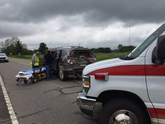 One person was injured Friday on Ohio 13 North at Bricker