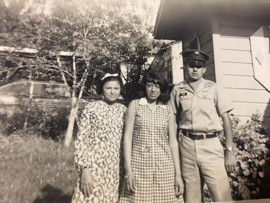 Amador Duran poses with his sisters, Alicia Lopez (from left) and Sylvia Stith before heading to Vietnam in 1968.