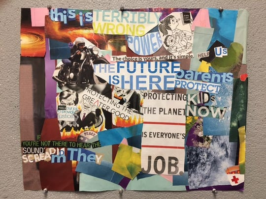 """Sycamore Valley Academy student  Madyson Gates piece """"Words."""""""