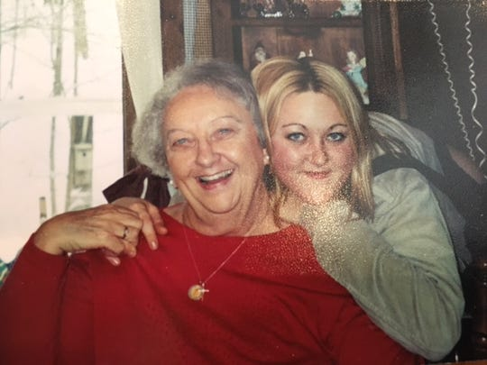 Kirstin Morgann Knapp, 33, of Bellville, died May 8 of an apparent drug overdose. Her mother Kimberly Flynn Knapp found her dead in their home. Kirstin is photographed with her grandmother Pat Flynn.
