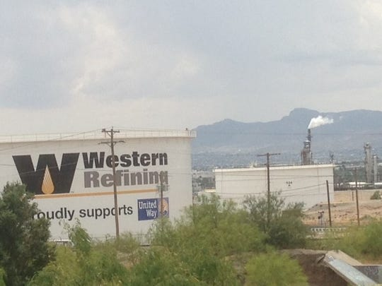 A portion of Western Refining's El Paso oil refinery, which is now owned by Tesoro Corp., of San Antonio.