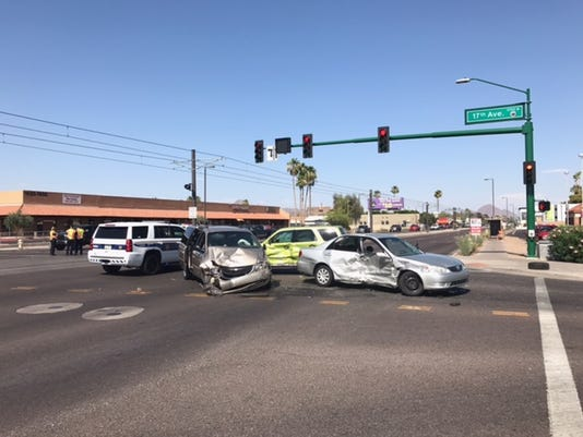 Three-vehicle crash in Phoenix