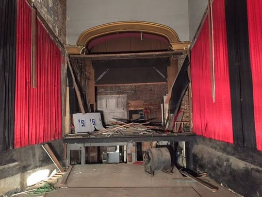 The inside of The Iowa Theater during the demolition