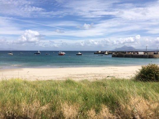 A beach on Clare Island.