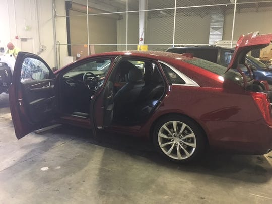 The car Eric Sedore was driving when Lee sheriff's deputies pulled him over along I-75 on June 14, 2017.