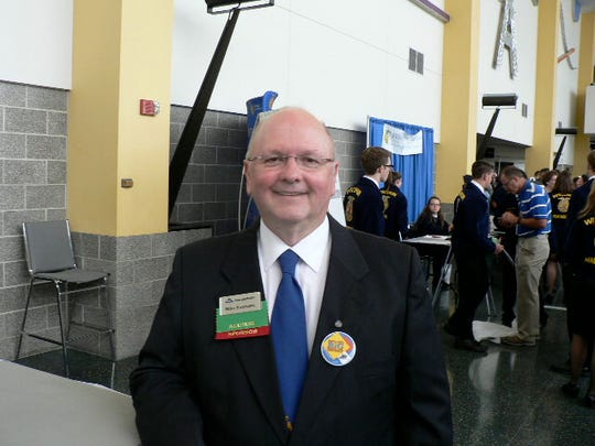 Forty  years ago Mike Kawleski, of the Stevens Point FFA Chapter , was Wisconsin FFA president.