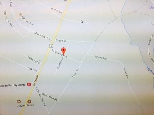The Stafford neighborhood where mercury was found in three private wells.