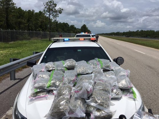 Marijuana confiscated during a traffic stop on I-75 Tuesday.