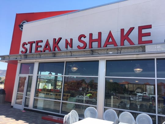 Finishing touches are being made at Steak 'n Shake's south Reno location prior to opening.