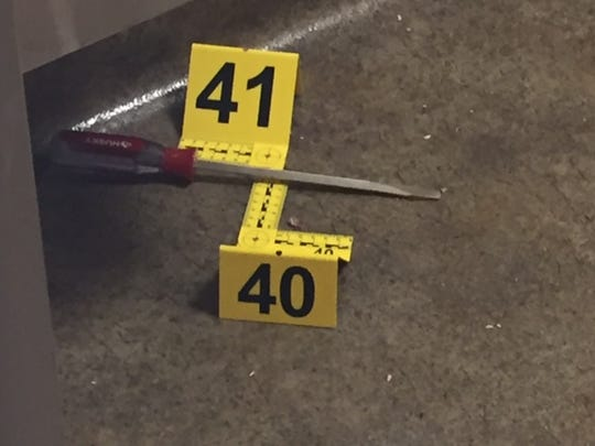 Police say Rodney L. Cole used this screwdriver to