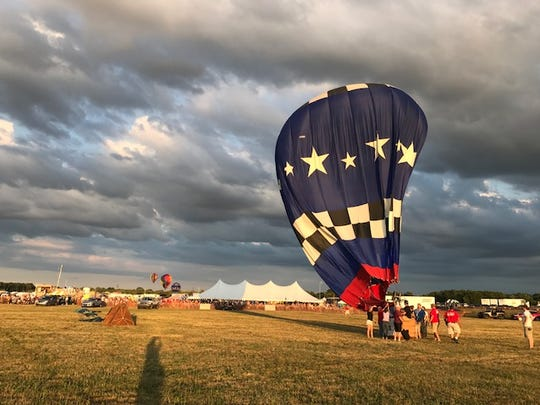 Saturday night was the first flight for the balloon competition during 2017 Field of Flight Air Show and Balloon Festival.