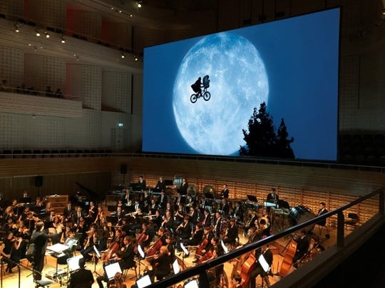 "The Brevard Music Center will screen the movie ""E.T. The Extra-Terrestrial"" in its Whittington-Pfhol Auditorium, backed by a live symphony soundtrack."