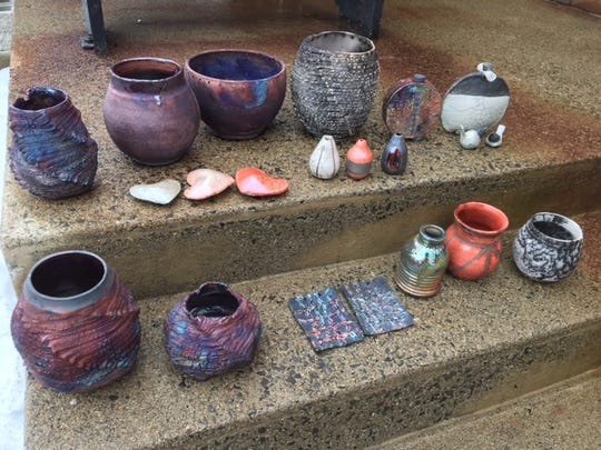 Raku work by students.