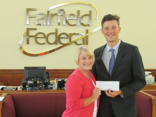 Chandler Dawson is pictured with Fairfield Federal representative, Christine Simmons.
