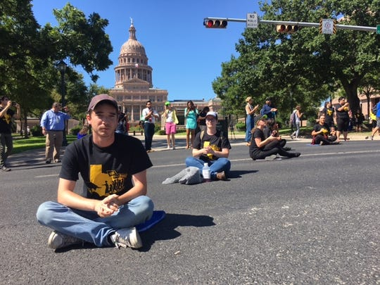 Fifteen protestors were arrested in Austin Wednesday