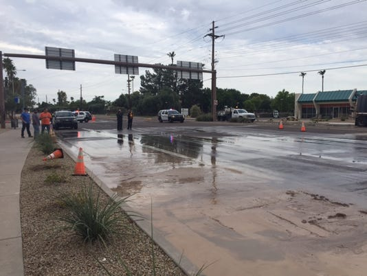 Water-main break closes Tempe intersection