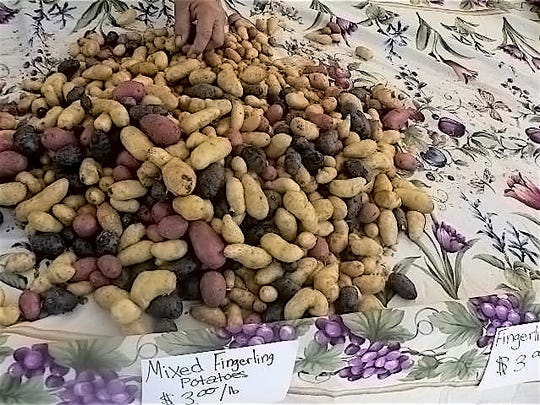 Fingerling potatoes, new to this writer.