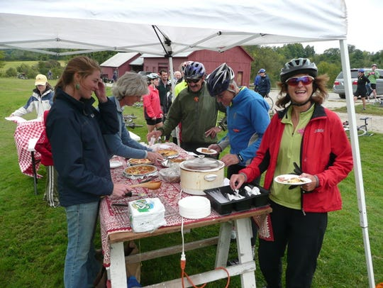 The 10th-annual Tour de Farm bicycle ride/fundraiser/food