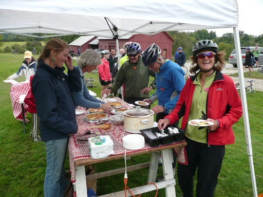 The 10th-annual Tour de Farm bicycle ride/fundraiser/food festival takes place Sunday, starting and ending in Bristol.