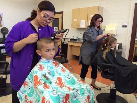 Del Mar College Dual Credit Cosmetology students will