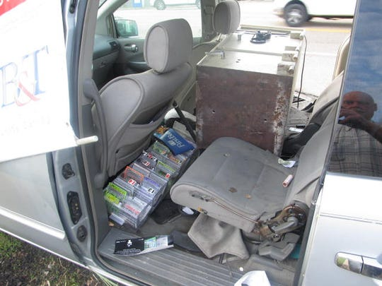 The suspects came away with lottery tickets from the liquor store in Bruceton along with a safe before abandoning the merchandise during the police chase.
