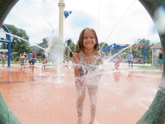 Eight-year-old Garden City resident Maddy Valdez enjoyed