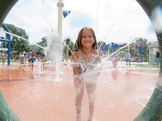 Eight-year-old Garden City resident Maddy Valdez enjoyed