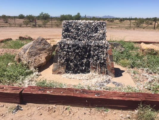 Jefferson Davis Highway monument vandalized