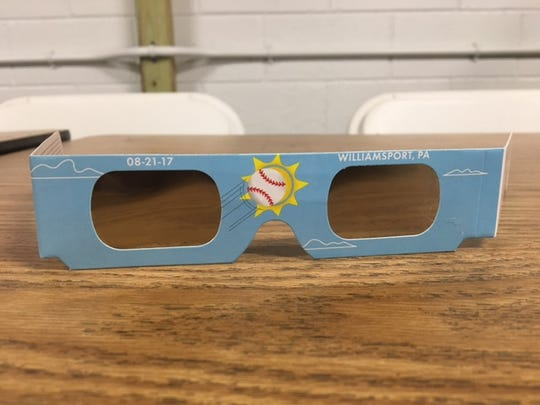Each visitor to the Little League Complex in South Williamsport, Pa received one pair of solar eclipse glasses on August 21, 2017