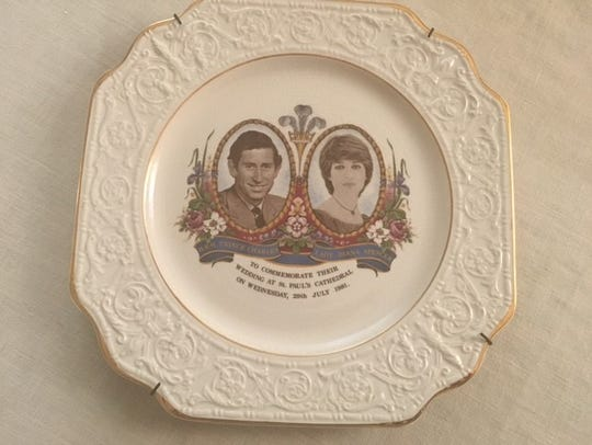 The writer bought this commemorative plate of Diana's