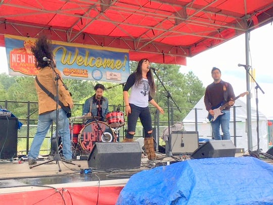 Red Light Camera performs at the Flavor Fest.