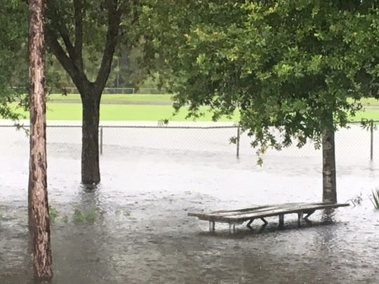 Torrential rains created water issues throughout the Fort Myers, Cape Coral and Lee County on Sunday.