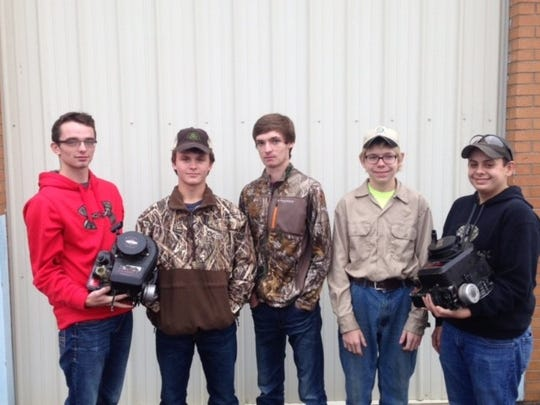Small Engine Team received 5th in State Contest. L-R:  Mason Welden, Billy Pride, Kyle Shirel, Chase Overfield, and Zake Walker.
