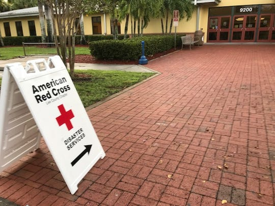 About 100 flood victims were helped overnight at a Red Cross shelter in Estero.